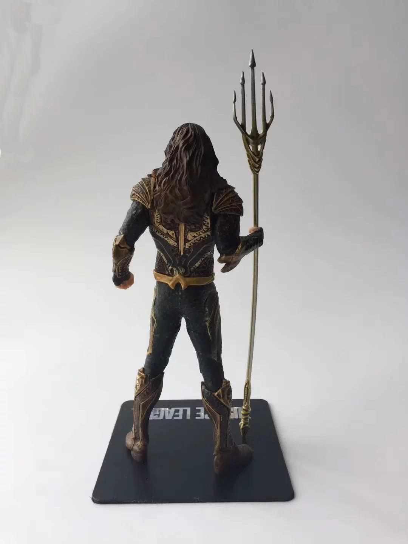 21.5 centímetros Anime figura o Tridente de Netuno avanger Aquaman action figure collectible modelo brinquedos para meninos
