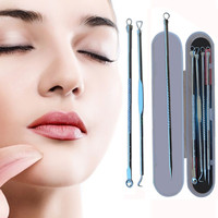 2018 New Beauty 4PCS Acne Needle Womans Fashion Stainless Steel Blackhead Acne Blemish Pimple Extractor Remover Needle Makeup Beauty Tools
