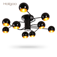 Holigoo 9 лампы держатели лампы Гостиная люстра современный дом ресторан Кофе Спальня украшения Люстра Освещение