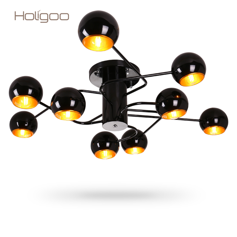 Holigoo 9 Bulb Holders Lamp Living Room Chandelier Light Modern Home Restaurant Coffee Bedroom Decoration Chandelier Lighting black crystal chandelier light modern black chandelier lighting bedroom dining room living lobby lamp lighting candle bulb