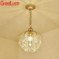 Vintage Led Crystal Hanglamp Kroonluchters Gold Iron Plafond Lamp Indoor Verlichtingsarmaturen Thuis Decoratie Woonkamer Hotel