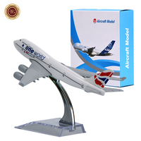 WR Mini A380 Airplane Model Zinc Alloy One World British Airways Aircraft Model Toy Home Decoration