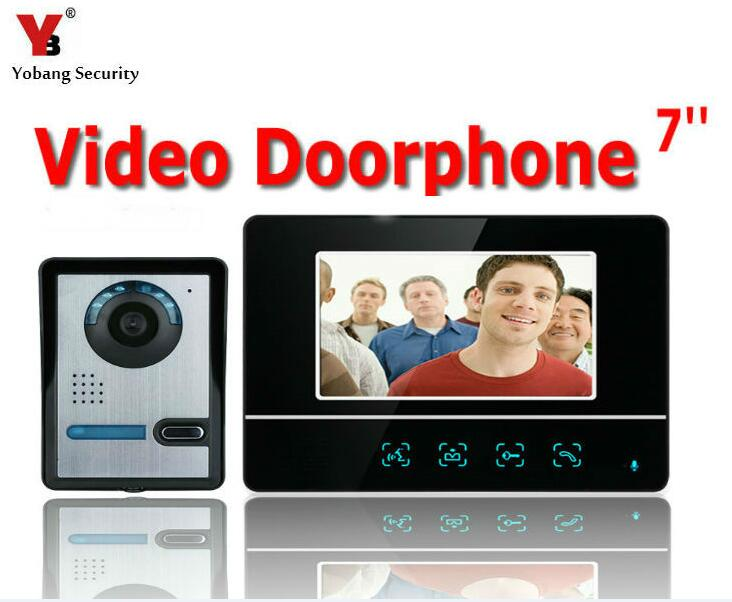 Yobang Security 7inch Video Intercom IR Night Vision Camera Monitor for Villa Home Door Phone Door Intercom Video DoorPhone Kit home security video door phone intercom system 7 tft lcd screen one monitor wire video doorphone for villa night vision camera