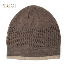 13aad3ab9 SIGGI Winter Warm Wool Beanies Skullies For Men Acrylic Stretch Soft  Knitted Hats Bonnet Chapeau Male