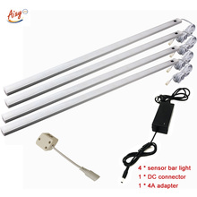 50 CM 33led PIR Hareket Sensörü lamba mutfak led dolap altı ışığı Gece Lambası dolap dolap DC 12 V beyaz/ sıcak beyaz