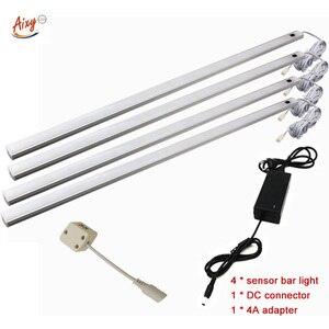 Image 1 - Lámpara led de 50CM con Sensor de movimiento PIR, luz nocturna para debajo del armario, armario, 12V CC, Blanco/blanco cálido