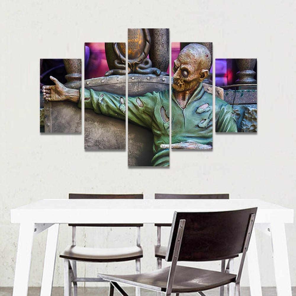 Unframed Canvas Art Painting Brass Sculpture Shabby Old Man People Prints Wall Pictures For Living Room Wall Art Decoration