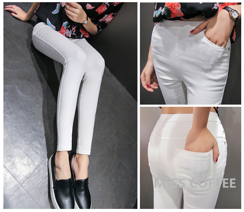 Free Shipping 17 New Autumn Fashion Pencil Jeans Woman Candy Colored Mid Waist Full Length Zipper Slim Fit Skinny Women Pants 10