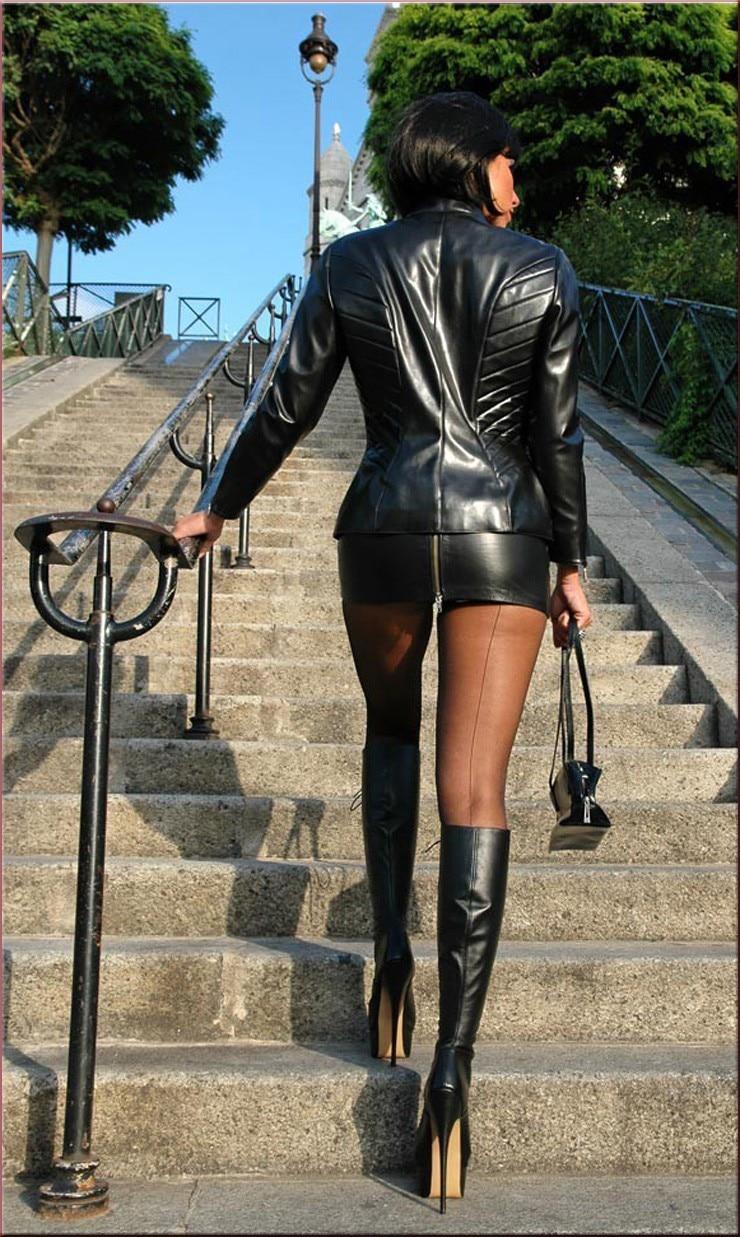 Hot Sexy Zipper Micro MINI Skirt Faux Leather Skirt Tight Hip Slim ...