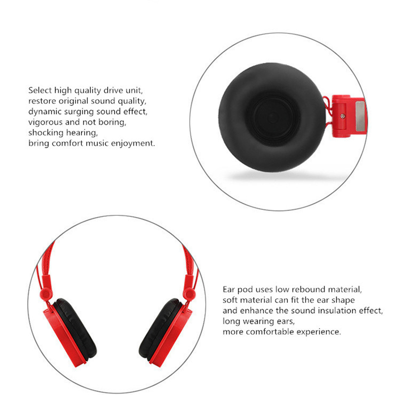 Stereo Headphone Bass Headset Wired Earphone With Microphone enjoy Music Game for Mobile Phone Computer