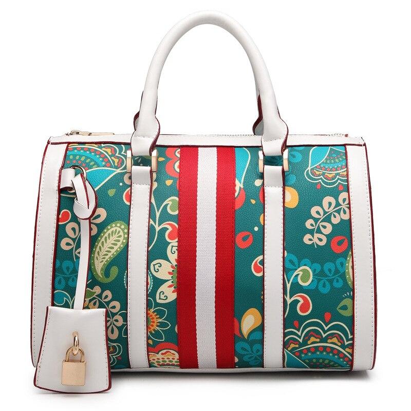 ФОТО Lady handbags pillow bag 2016 new barrels of European and American fashion Boston bag printed laptop inclined shoulder bag