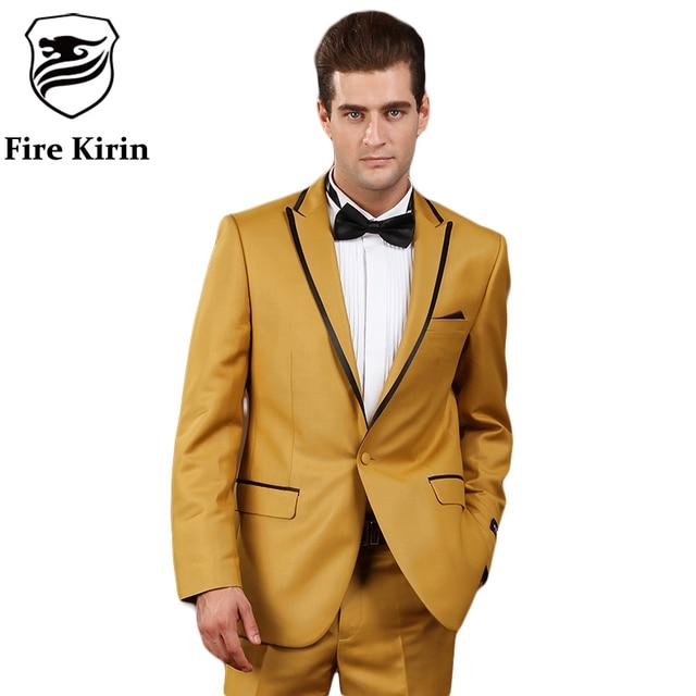 Aliexpress.com : Buy Fire Kirin Gold Suits For Men 2017 Brand ...