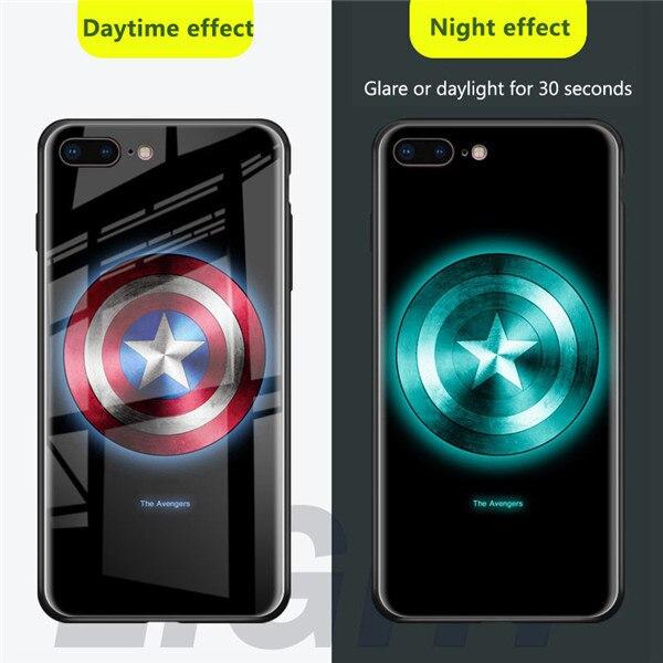 Чехол из закаленного стекла для iPhone X, XS, MAX, XR, 10, 6 S, 7, 8 Plus, 7 Plus, 8 Plus, 11 PRO, чехол для телефона с Бэтменом - Цвет: CAPTAIN