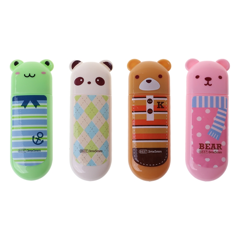 1 PC Cartoon Tapes/Bear/Frog/Panda Series Cute Animals Correction Tapes For Stationery Office School Supplies Random