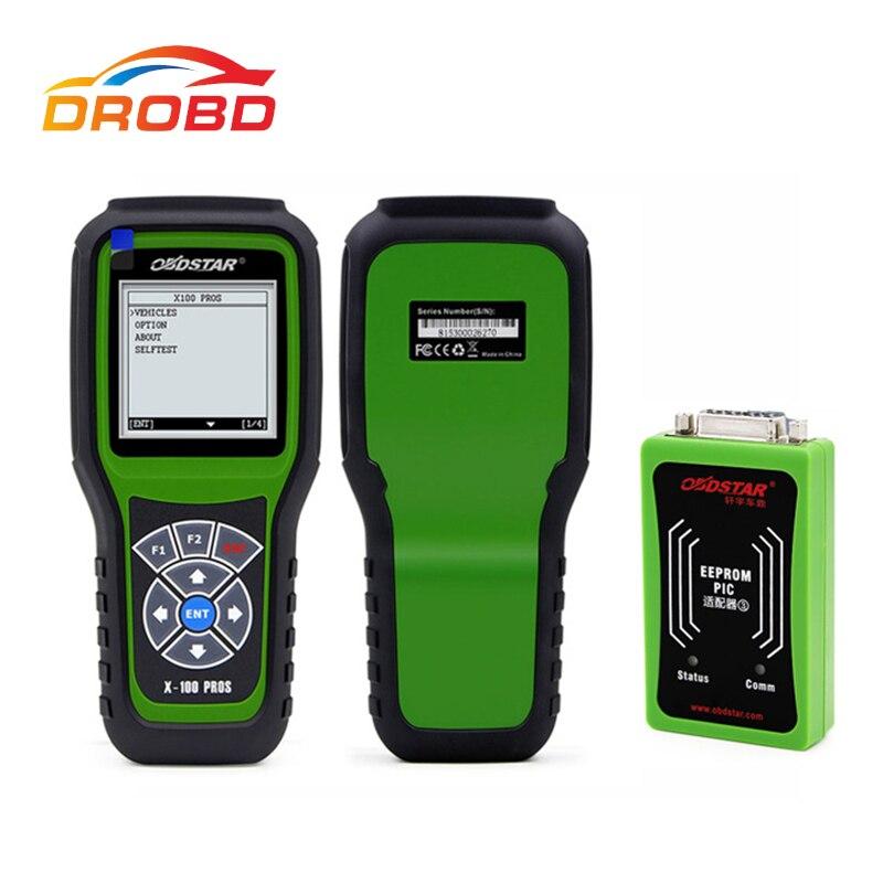 OBDSTAR X-100 Pros C D E OBD2 Auto Key Programmeur + Kilométrage correction outil + OBDII outil de diagnostic x100 C + D + eeprom