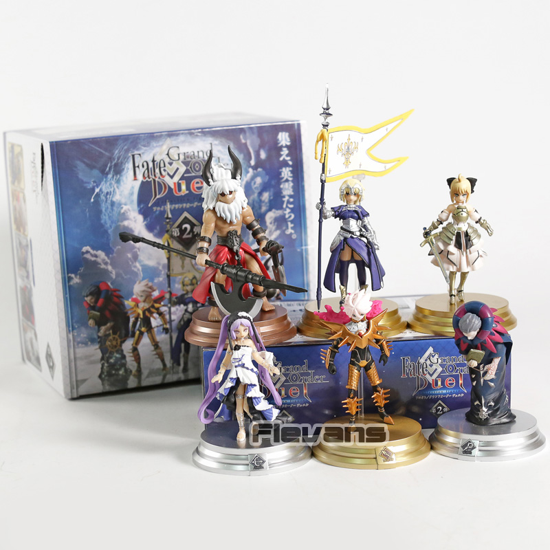 Fate Grand Order Duel FGO Collection Figure Saber Jeanne dArc Karna Gilles de Rais Euryale Asterius 6pcs/setFate Grand Order Duel FGO Collection Figure Saber Jeanne dArc Karna Gilles de Rais Euryale Asterius 6pcs/set