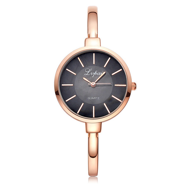 LVPAI Brand Rose Gold Women Bracelet Watches Fashion Luxury Quartz-Watches Ladie