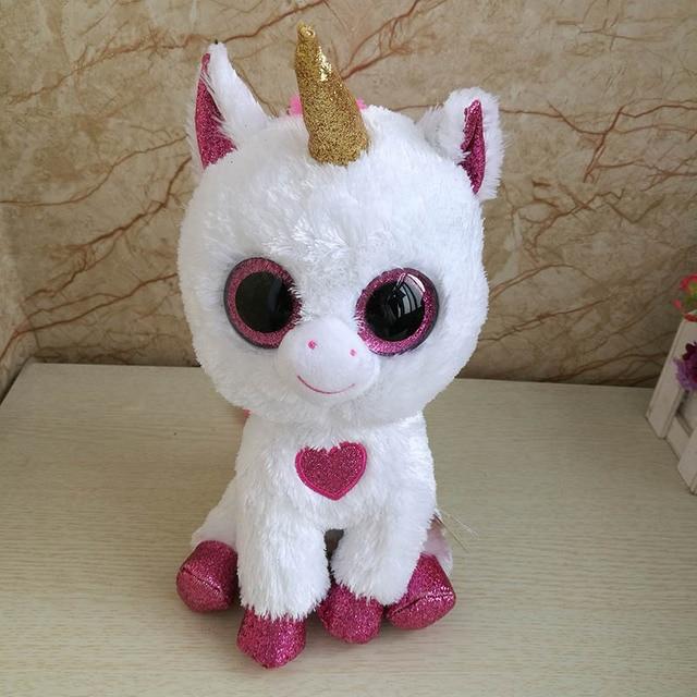 f1ab9567b30 2018 new Ty Beanie Boos Unicorn with red heart Plush Toy Big Eyes Cute  Stuffed Animal Doll Birthday Gift Valentine s Day Decor