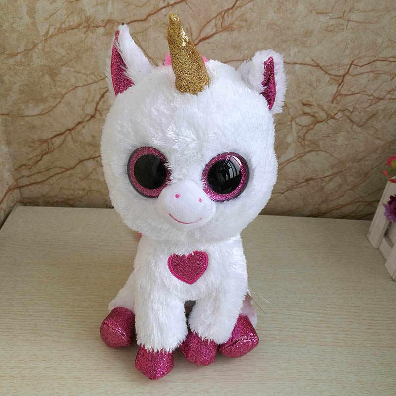 2018 new Ty Beanie Boos Unicorn with red heart Plush Toy Big Eyes Cute  Stuffed Animal cfa2e256bcf