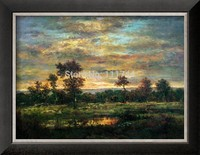 art paintings oil on canvas Pond at the Edge of a Wood by Theodore Rousseau Home Decor High quality 100%hand painted