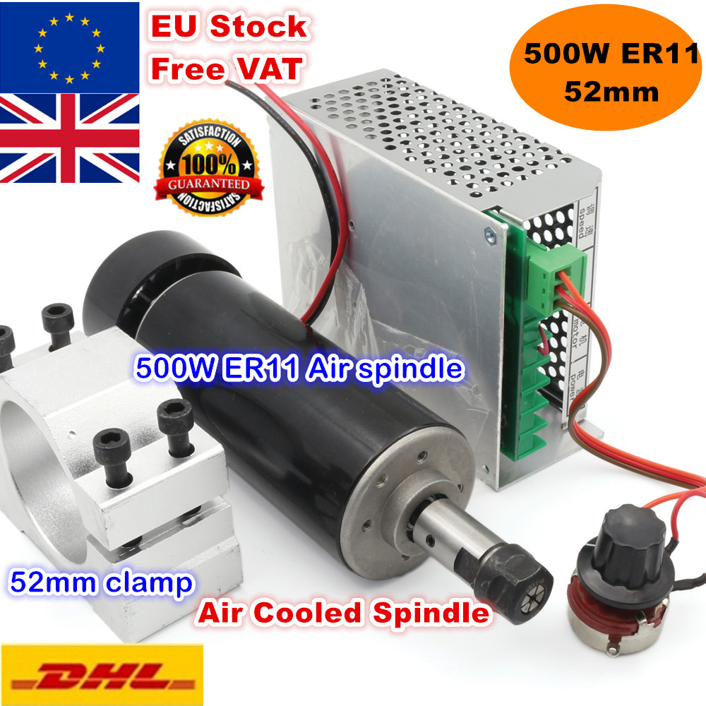 EU Delivery 0 5KW 500W Air Cooled CNC Spindle Motor ER11 12000rpm 52mm Holder Speed