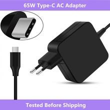 Adaptador de corriente USB tipo C para Dell/para Xiaomi air/Matebook Huawei/HP Spectre/para Lenovo/para Macbook 65W