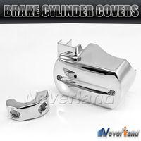 Chrome Aluminum Motorcycle Handlebar Brake Master Cylinder Cover For Yamaha V Star XVS 650 1100 Reservoir