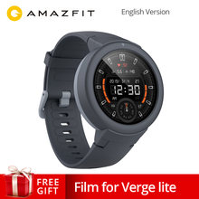 English Version AMAZFIT Verge Lite Smartwatch 20 Days Battery Life 1.3 Inch AMOLED Screen Built-in GPS Heart Rate Monitor(China)