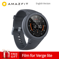 English Version Xiaomi AMAZFIT Verge Lite Smartwatch 20 Days Battery Life 1.3 Inch AMOLED Screen Built in GPS Heart Rate Monitor