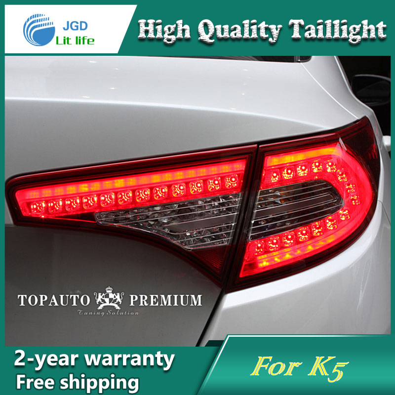 Car Styling Tail Lamp for Kia K5 Tail Lights LED Tail Light Rear Lamp LED DRL+Brake+Park+Signal Stop Lamp car styling tail lamp for mitsubishi pajero v73 2003 08 tail lights led tail light rear lamp led drl brake park signal stop lamp