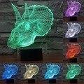 Estilo dinosaurio Cartón Lámpara de Luz Nocturna Ilusión 3D LED Luz Lámpara de Noche la Decoración Del Hogar de Iluminación Interior Para El Amigo Regalo de Los Cabritos