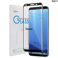 Qosea For Samsung Galaxy Note 8 Tempered Glass 9H Electroplated 3D Front Full Film Case For