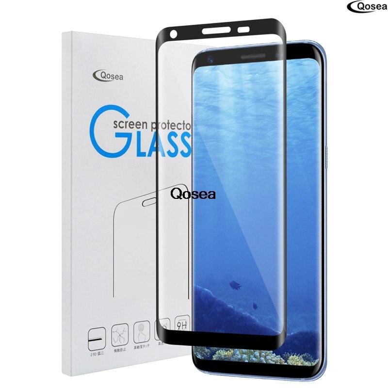 imágenes para Qosea Para Samsung Galaxy Nota 8 de Vidrio Templado 9 H Galvanizado Frente 3D Caso Para Samsung Nota8 8 Pantalla Película Completa Protector