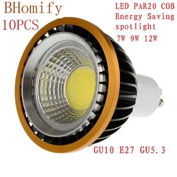 LED Spotlights COB spot PAR20 Bulb 220V110V dimmable GU10 GU53 E27 7W 9W 12W bulb P20 Lamps Warm/Pure/Cold White Spot light
