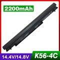 4 ячеек Аккумулятор Для Ноутбука ASUS A31-K56 A32-K56 A41-K56 A42-K56 A46C E46 K46V S40C S405CA A46CB K56C K56CA U48C U58C V550C