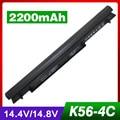 4 cells Laptop Battery For ASUS A31-K56 A32-K56 A41-K56 A42-K56 A46C E46 K46V S40C S405CA K56C A46CB K56CA U48C U58C V550C