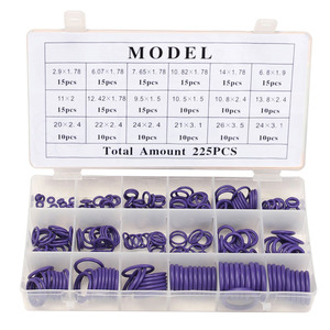 New 225pcs Seal O-ring Gaskets Set Air conditioning Rubber Washer O Ring Assortment Kit for R22 R134a Purple Standard Parts Hot