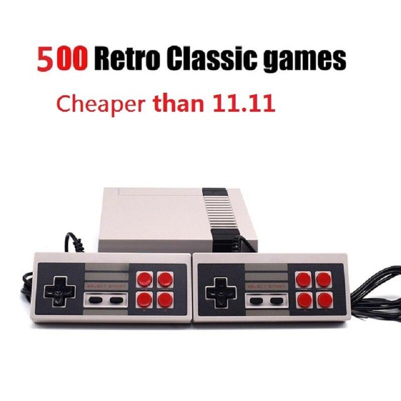 Retro Clássico jogador handheld do jogo Da Família Infância Embutido 500 Jogos Para nes consola TV jogo de vídeo