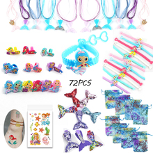 Mermaid party favors for kids birthday Bracelet//Ring/Hairpin/Necklace/Gift Bag children gifts toys