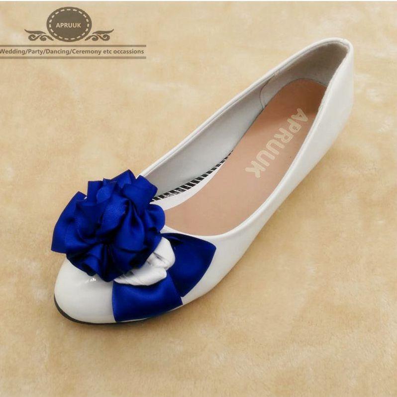 Royal blue wedding shoes bride handmade