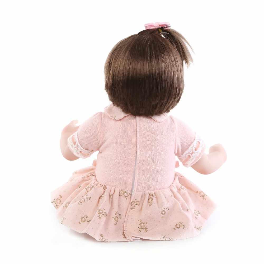 NPK Новый 43 см силиконовый реборн супер ребенок реалистичный малыш ребенок Bonecas кукла Bebes Reborn Brinquedos Reborn игрушки для детей подарок
