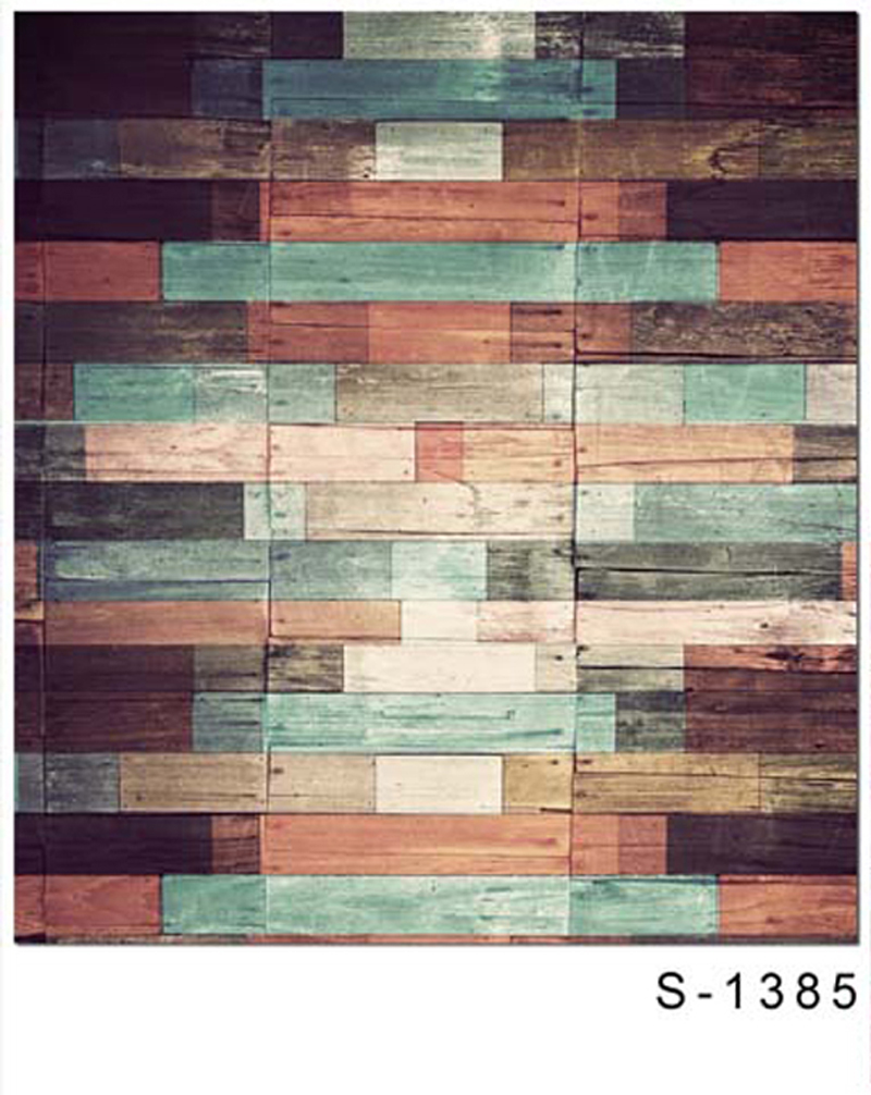 Colored Wood Paneled Walls photo backdrop  Vinyl cloth High quality Computer printed Wooden Photography Backgrounds happy new year light winter fireworks stars photo backdrop vinyl cloth computer printed children backgrounds
