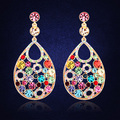 Wedding Luxury Earrings For Women Crystal From Swarovski  Gold Plated Water Drop Earrings Bride Wedding Accessories