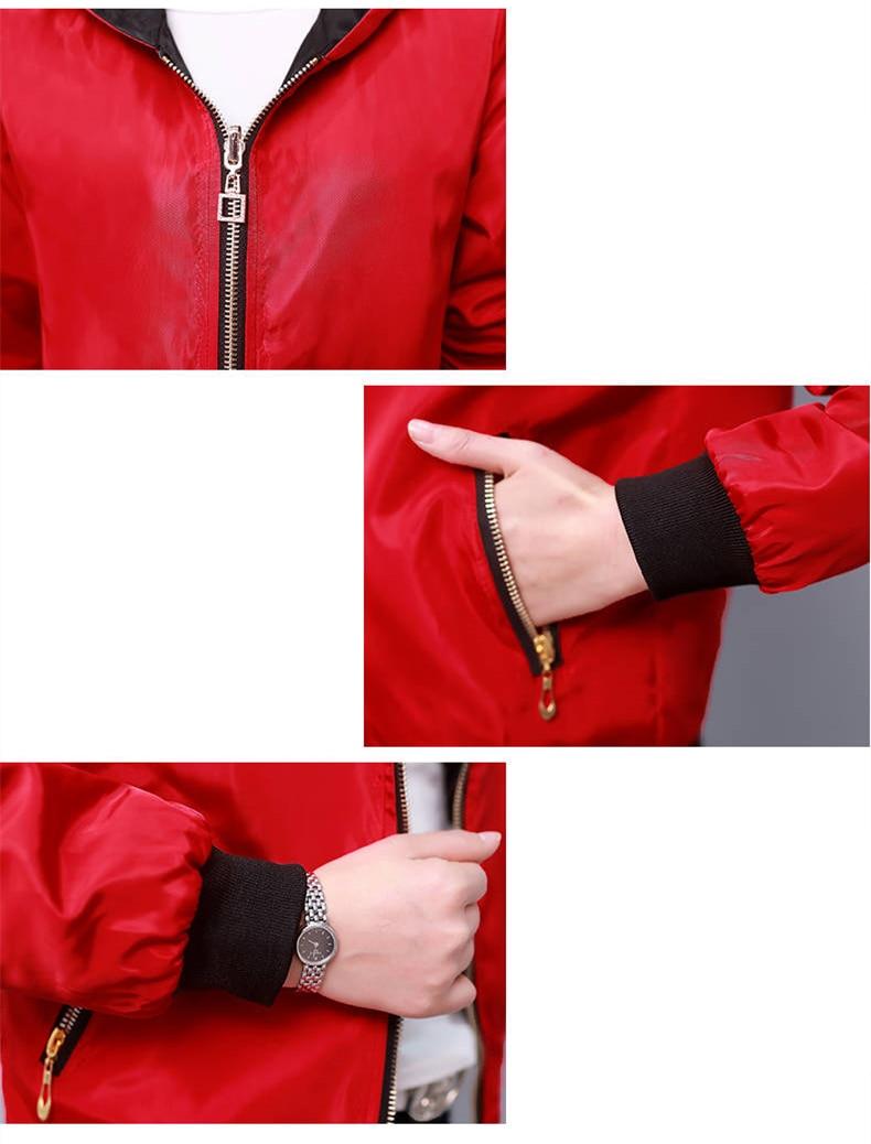 HTB1QLPcXBCw3KVjSZR0q6zcUpXao Windbreak Jacket Women Long Sleeve Hooded Coats Spring Autumn Casual Solid Zip Up Basic Jackets for Women