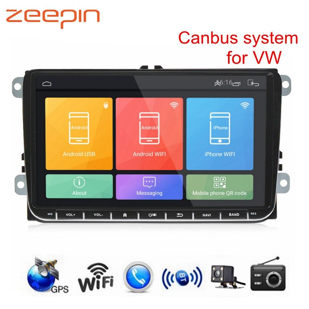 9 ''Car DVD Player per VW supporto Canbus sistema di Ricerca Vocale Android 6.0 GPS di Navigazione FM AM Radio Auto pieno di uscita video RCA