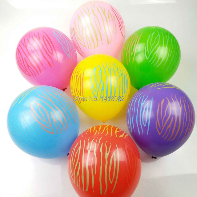 100pcs 12inch 28g zebra striped latex balloons colorful globos party birthday wedding celebration decoration with