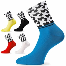цена на High Quality Professional Brand Cycling Sport Socks Protect Feet Breathable Wicking Socks Plaid Cycling Socks Bicycles Socks