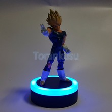 лучшая цена Dragon Ball Z Action Figure Evil Vegeta Led Light DIY Display Toy Super Saiyan Esferas Del Dragon Vegeta DBZ Action Figure DIY89