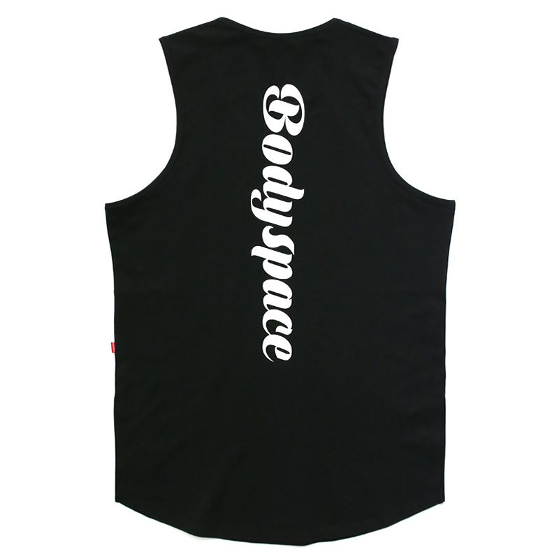2019 new brand trends Gyms Tank Tops Men Elastic Cotton Vest O-Neck Top Sleeveless Shirts Muscle Fitness
