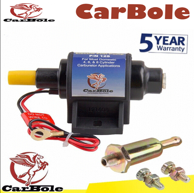 CARBOLE low-pressure pump 12v electric 4-7 PSI High Performance Electric Fuel Pump For Use w/Carburetor 35 GPH for chrysler